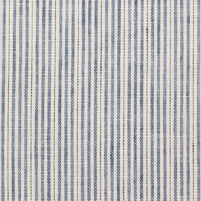 コットン×ストライプ(ブルー)×Wガーゼ イメージ1