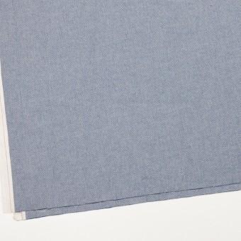コットン×無地(ブルー)×ヘリンボーンワッシャー_イタリア製 サムネイル2