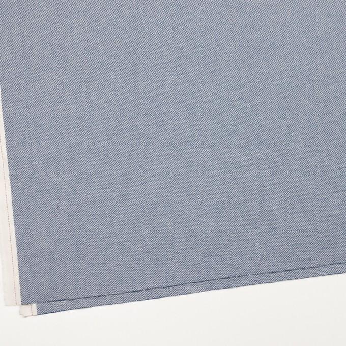 コットン×無地(ブルー)×ヘリンボーンワッシャー_イタリア製 イメージ2