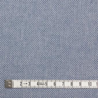 コットン×無地(ブルー)×ヘリンボーンワッシャー_イタリア製 サムネイル4