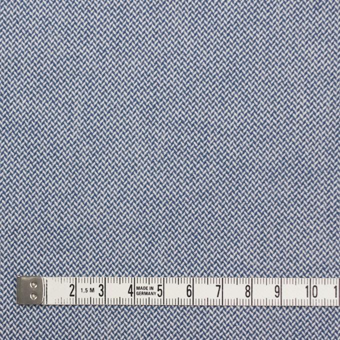コットン×無地(ブルー)×ヘリンボーンワッシャー_イタリア製 イメージ4