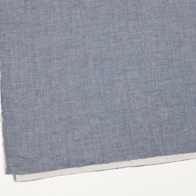 コットン×無地(ブルー)×かわり織&ガーゼ イメージ2