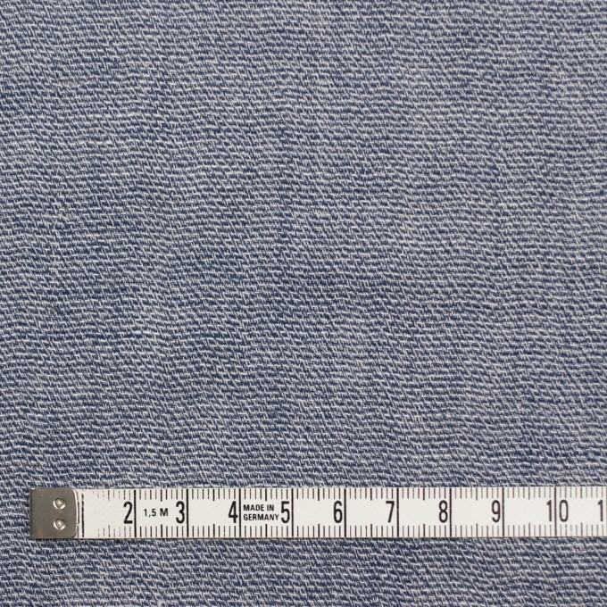 コットン×無地(ブルー)×かわり織&ガーゼ イメージ4