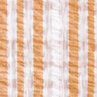 コットン×タータンチェック(オレンジミックス)×サッカー_全3色 サムネイル1