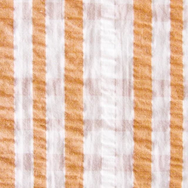 コットン×タータンチェック(オレンジミックス)×サッカー_全3色 イメージ1