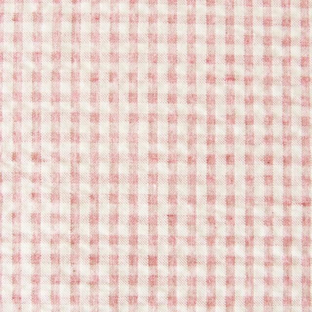 コットン×ギンガムチェック(ピンク)×シーチングリップル_全3色 イメージ1