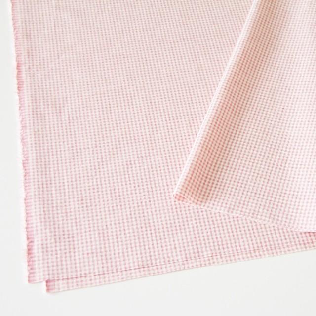 コットン×ギンガムチェック(ピンク)×シーチングリップル_全3色 イメージ2