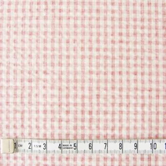 コットン×ギンガムチェック(ピンク)×シーチングリップル_全3色 サムネイル4