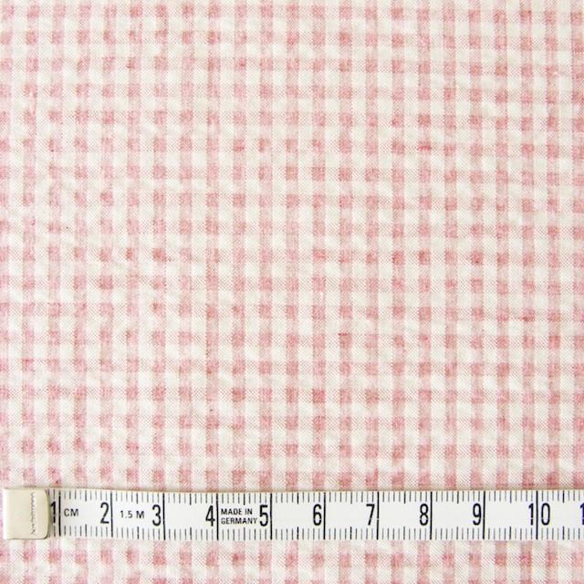 コットン×ギンガムチェック(ピンク)×シーチングリップル_全3色 イメージ4