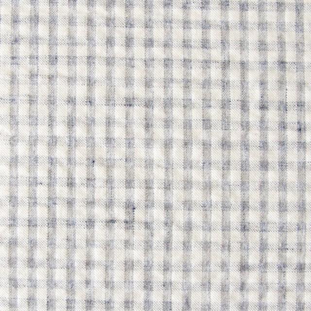 コットン×ギンガムチェック(ブルーグレー)×シーチングリップル_全3色 イメージ1