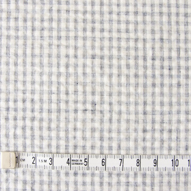 コットン×ギンガムチェック(ブルーグレー)×シーチングリップル_全3色 イメージ4