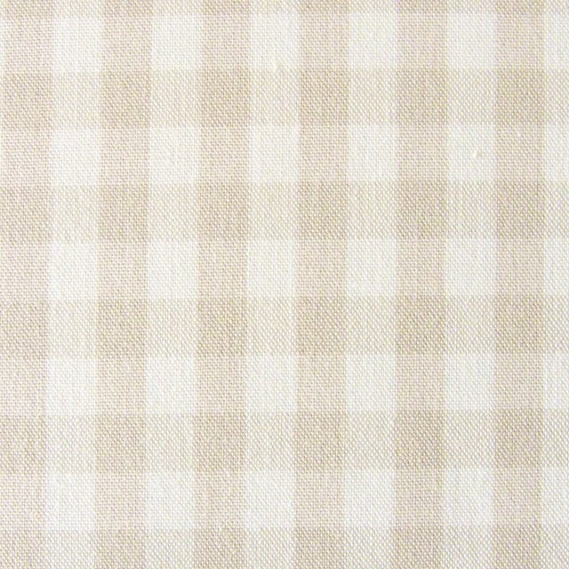 コットン×ギンガムチェック(ベージュ)×ポプリン_全3色 イメージ1