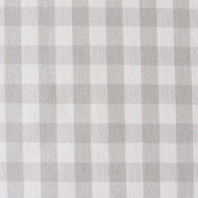 コットン×ギンガムチェック(ライトグレー)×ポプリン_全3色 イメージ1