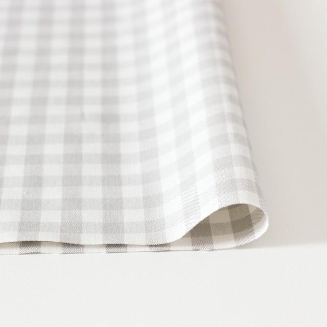コットン×ギンガムチェック(ライトグレー)×ポプリン_全3色 イメージ3