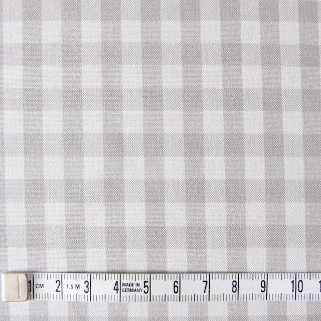 コットン×ギンガムチェック(ライトグレー)×ポプリン_全3色 イメージ4