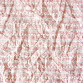 コットン&リネン×ボーダー(ピンクベージュ)×かわり織ワッシャー サムネイル1