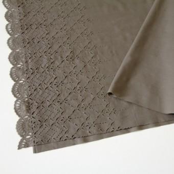 コットン×ボーダー(カーキブラウン)×ローン刺繍No2_全4色 サムネイル2