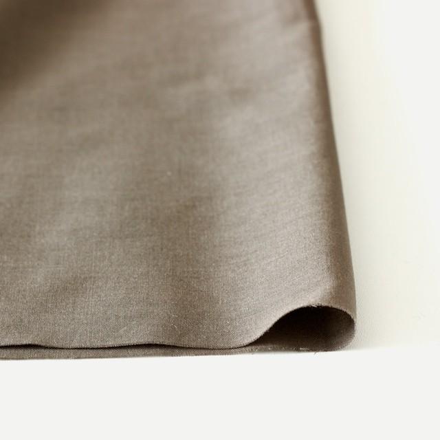 コットン×ボーダー(カーキブラウン)×ローン刺繍No2_全4色 イメージ3