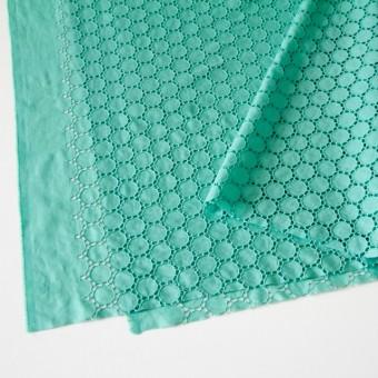 コットン×輪模様(エメラルドグリーン)×ローン刺繍_全2色 サムネイル2