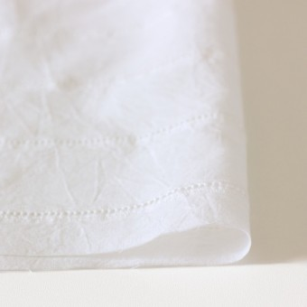 コットン×はしごボーダー(オフホワイト)×シーチング刺繍ワッシャー サムネイル3