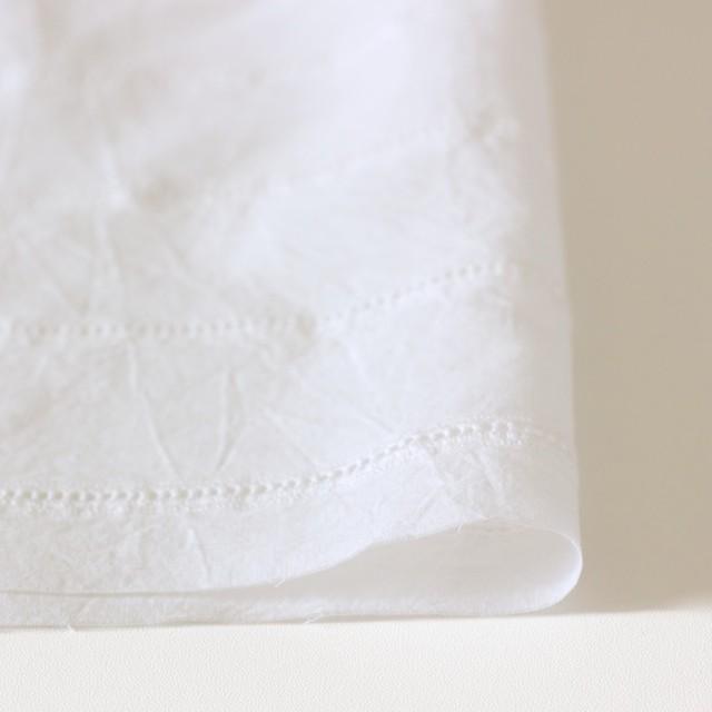コットン×はしごボーダー(オフホワイト)×シーチング刺繍ワッシャー イメージ3