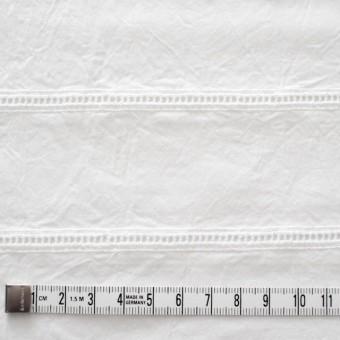 コットン×はしごボーダー(オフホワイト)×シーチング刺繍ワッシャー サムネイル4