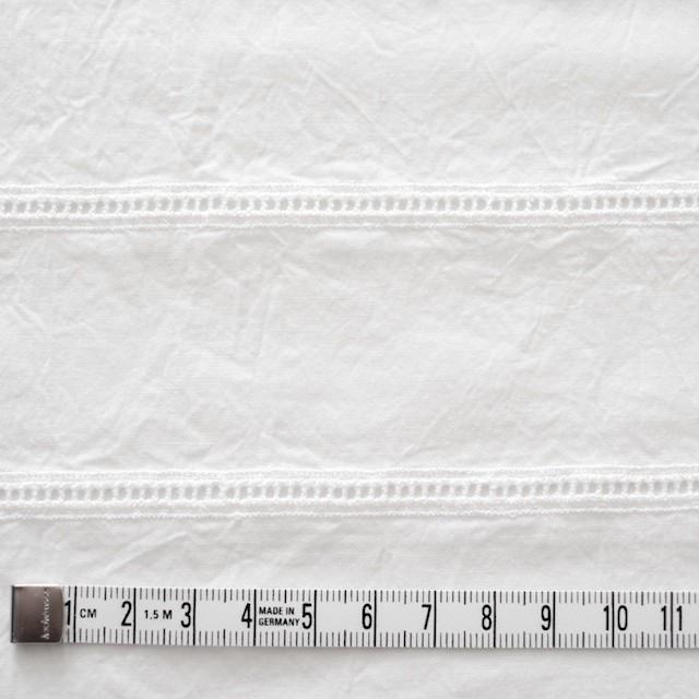 コットン×はしごボーダー(オフホワイト)×シーチング刺繍ワッシャー イメージ4