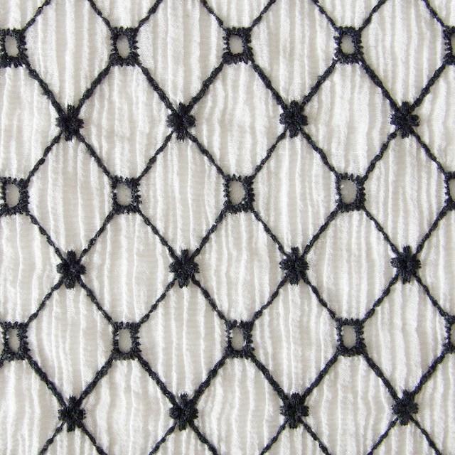 コットン×マトラッセ(ライトグレー)×ヨウリュウ刺繍 イメージ1
