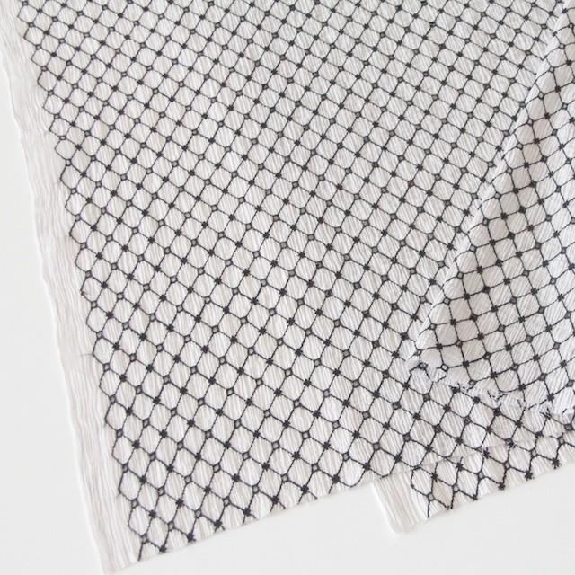 コットン×マトラッセ(ライトグレー)×ヨウリュウ刺繍 イメージ2
