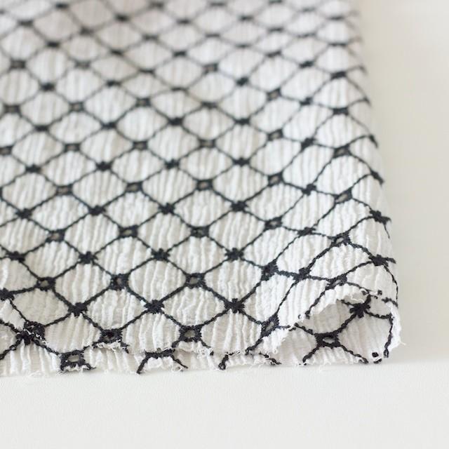 コットン×マトラッセ(ライトグレー)×ヨウリュウ刺繍 イメージ3