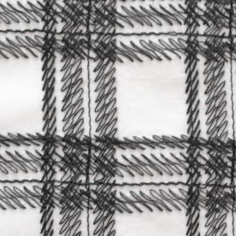 コットン×チェック(オフホワイト)×ローン刺繍_全3色 サムネイル1