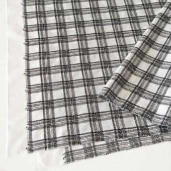 コットン×チェック(オフホワイト)×ローン刺繍_全3色 サムネイル2