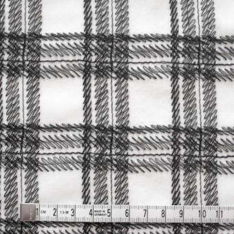 コットン×チェック(オフホワイト)×ローン刺繍_全3色 サムネイル4