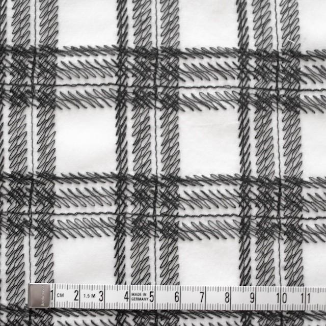 コットン×チェック(オフホワイト)×ローン刺繍_全3色 イメージ4