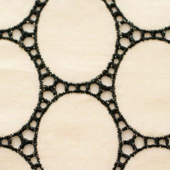 コットン×オーバル(キナリ)×ローン刺繍 サムネイル1