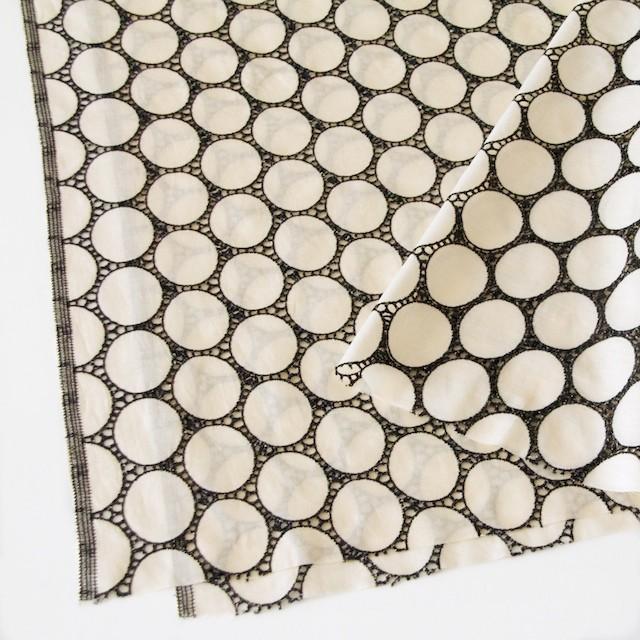コットン×オーバル(キナリ)×ローン刺繍 イメージ2