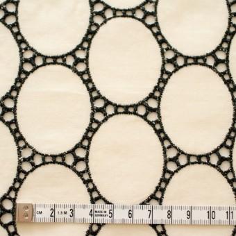 コットン×オーバル(キナリ)×ローン刺繍 サムネイル4