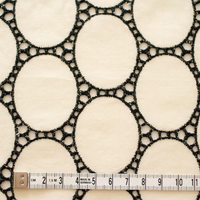 コットン×オーバル(キナリ)×ローン刺繍 イメージ4