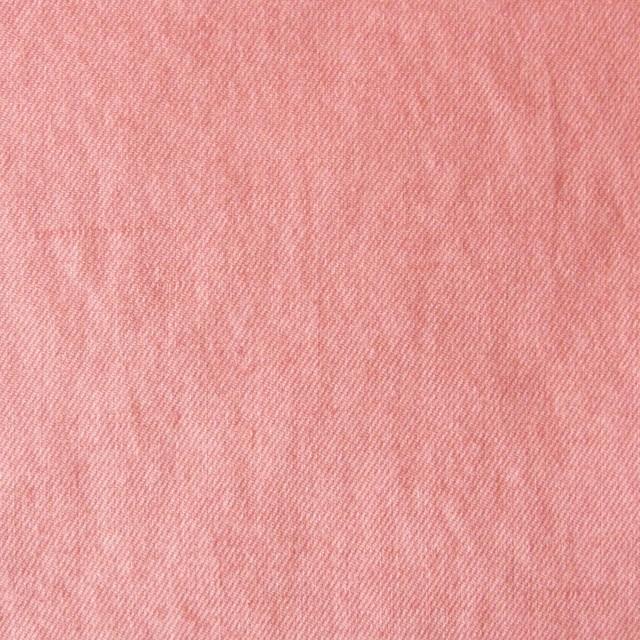 コットン&リネン×無地(ピーチ)×薄サージワッシャー イメージ1