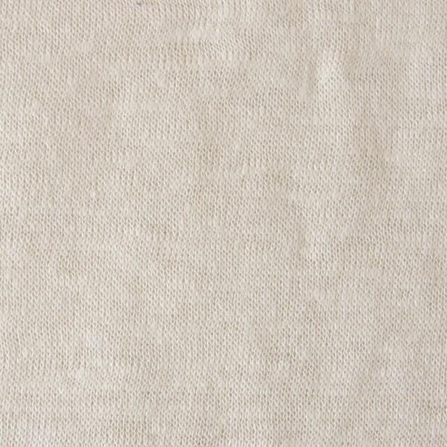 リネン×無地(アイボリー)×天竺ニット_全5色 イメージ1