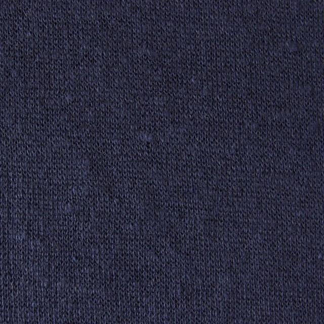 コットン&リネン×無地(ネイビー)×Wニット イメージ1