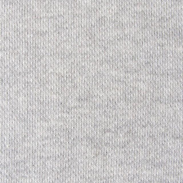 コットン×無地(ライトグレー)×裏毛ニット イメージ1