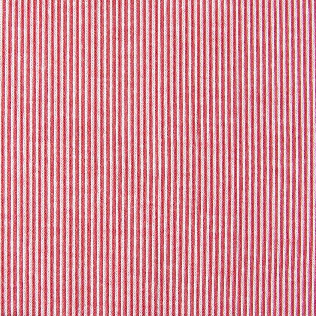 コットン×ピンストライプ(レッド)×フライスニット_全2色 イメージ1