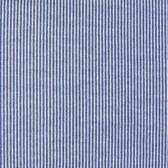 コットン×ピンストライプ(ブルー)×フライスニット_全2色 サムネイル1