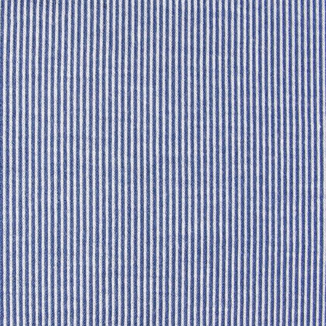 コットン×ピンストライプ(ブルー)×フライスニット_全2色 イメージ1