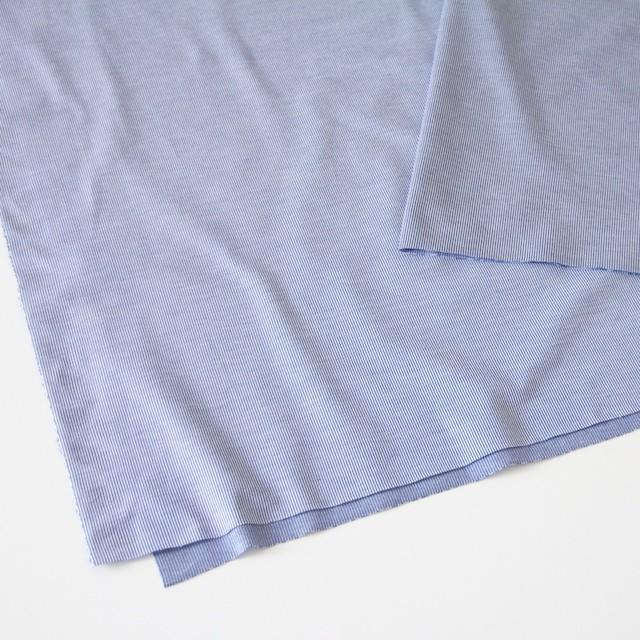 コットン×ピンストライプ(ブルー)×フライスニット_全2色 イメージ2