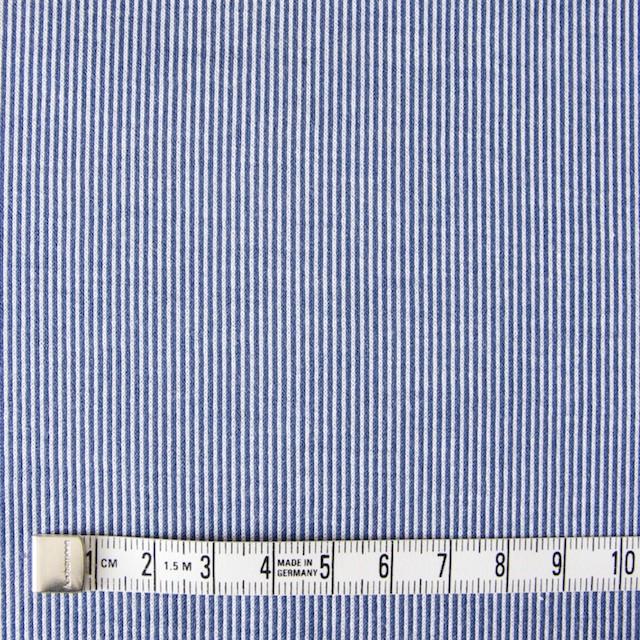 コットン×ピンストライプ(ブルー)×フライスニット_全2色 イメージ4