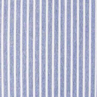 コットン混×ストライプ(ブルー)×ブロードストレッチ_全3色 サムネイル1