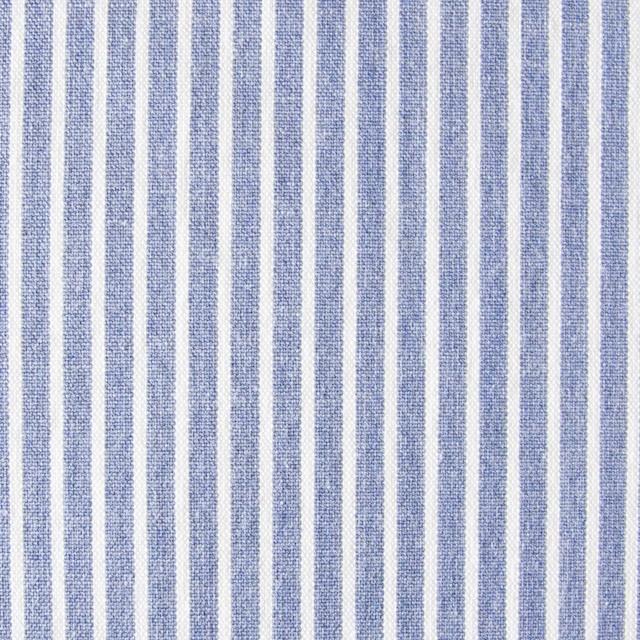 コットン混×ストライプ(ブルー)×ブロードストレッチ_全3色 イメージ1
