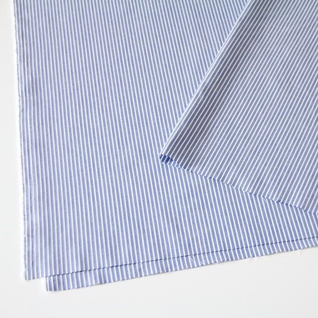 コットン混×ストライプ(ブルー)×ブロードストレッチ_全3色 イメージ2